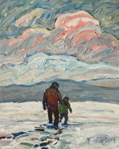 """A Brisk Winter Walk"" by Steve Coffey 8 x 10 - oil $740 Unframed"