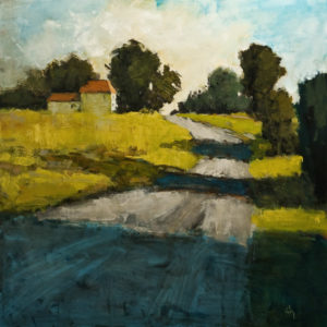 "SOLD ""Chemin Gendron No. 3,"" by Robert P. Roy 48 x 48 - oil $3300 (thick canvas wrap without frame)"