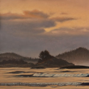 "SOLD ""Cox Bay Dusk,"" by Ray Ward 10 x 10 – oil $975 Unframed"