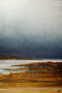 "SOLD (commissioned) ""The Current Will Guide Us,"" by Laura Harris 32 x 48 - acrylic $6160 Unframed"