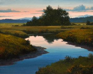 "SOLD ""Dawn's Light"" by Merv Brandel 8 x 10 - oil $900 Unframed $1090 in show frame"