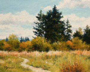 """Estuary Trail"" by Merv Brandel 8 x 10 - oil $900 Unframed"