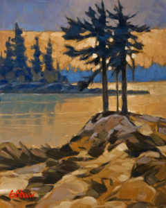 "SOLD ""Evening Contemplation"" by Graeme Shaw 8 x 10 – oil $510 Unframed"