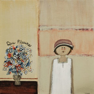 "SOLD ""Des Fleurs"" by Louise Lauzon 10 x 10 - acrylic $400 Unframed"