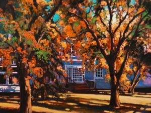 "SOLD ""The Front Yard,"" by David Langevin 18 x 24 - oil $1755 Unframed"