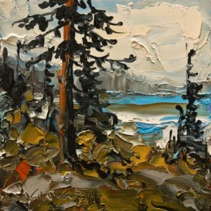 "SOLD ""Gulf Colours"" by Rod Charlesworth 6 x 6 – oil $475 Unframed"