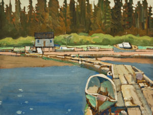 "SOLD ""Head of Bamfield Inlet"" (1984), by Robert Genn 9 x 12 – oil $3300 Unframed"