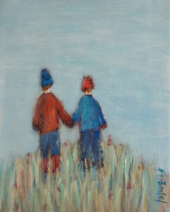 """Hold My Hand"" by Bev Binfet 8 x 10 - acrylic $400 Unframed"