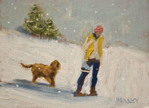 "SOLD ""Homeward Bound"" by Paul Healey 5 x 7 - oil $275 Unframed $450 in show frame"