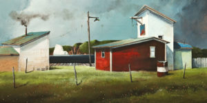 """The Ice House at the Wharf,"" by Mark Fletcher 15 x 30 - acrylic $1925 Unframed"