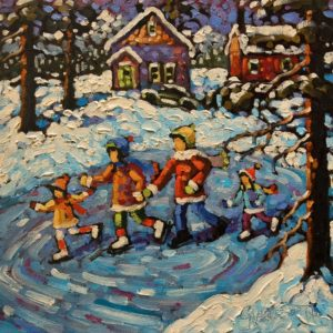 """A Little Patch of Ice"" by Rod Charlesworth 10 x 10 - oil $830 Unframed"