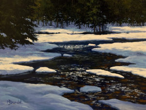 "SOLD ""Long Shadows"" by Merv Brandel 9 x 12 - oil $1025 Unframed $1225 in show frame"