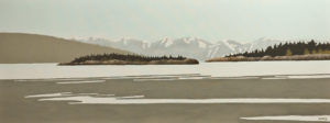 """Low Tide at Rathtrevor Beach,"" by Ken Kirkby 18 x 48 - oil $2600 Unframed"