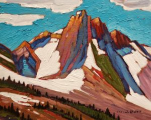 """Mountain Light,"" by Nicholas Bott 8 x 10 - oil $1090 Unframed"