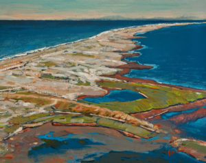 """Overlooking Dungeness Bay, Washington"" by Min Ma 8 x 10 - acrylic $845 Unframed"