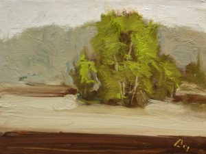 """Printemps (Spring Time)"" by Robert P. Roy 9 x 12 - oil $450 Unframed"