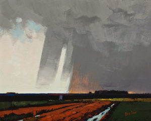"SOLD ""The Rain Comes"" by Min Ma 8 x 10 - acrylic $845 Unframed"