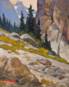"SOLD ""Ridge Walk View"" by Graeme Shaw 8 x 10 - oil $510 Unframed $715 in show frame"