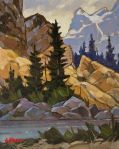 "SOLD ""Rockies Rhythm"" 8 x 10 - oil $510 Unframed $715 in show frame"