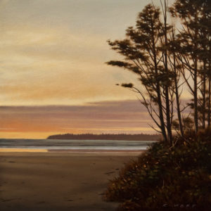 "SOLD ""September Glow,"" by Ray Ward 8 x 8 – oil $800 Unframed"
