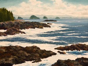 "SOLD ""South Easterlies"" by Merv Brandel 9 x 12 – oil $1025 Unframed"
