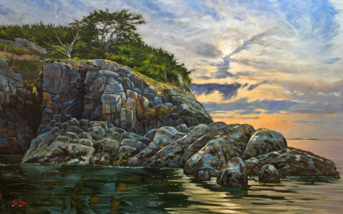 """South Winchelsea Island,"" by Graeme Shaw 30 x 48 - oil $4225 as thick canvas wrap without frame"