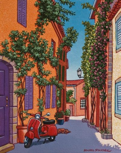 """A Spot in the Shade,"" by Michael Stockdale 8 x 10 - acrylic $425 Unframed"