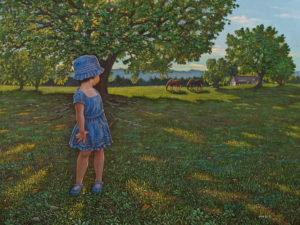 """Summer Shade,"" by Don Li 18 x 24 - oil $3800 Unframed"