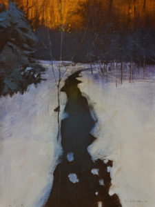 "SOLD ""Violet Light"" by David Lidbetter 9 x 12 - oil $1000 Unframed"