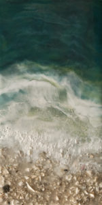 """West Coast No. 218"" by Brenda Walker 6 x 12 - encaustic $345 (panel with 1 1/2"" edges)"