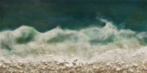"SOLD ""West Coast No. 219"" by Brenda Walker 6 x 12 - encaustic $345 (panel with 1 1/2"" edges)"