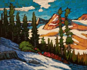 "SOLD ""Whistler Mountain View,"" by Nicholas Bott 8 x 10 - oil $1090 Unframed"