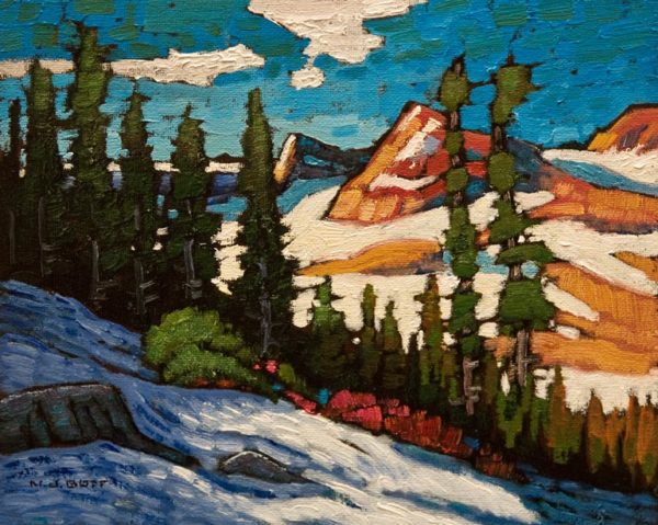 """Whistler Mountain View,"" by Nicholas Bott 8 x 10 - oil $1090 Unframed"