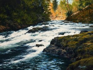 """White Water"" by Merv Brandel 12 x 16 - oil $1575 Unframed"