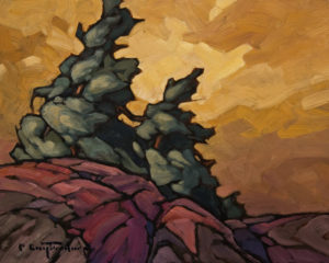 "SOLD ""Wind and Stone"" by Phil Buytendorp 8 x 10 - oil $570 Unframed $790 in show frame"