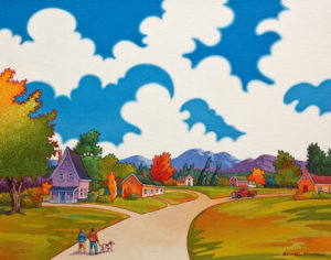 """Early Fall in the Valley,"" by Michael Stockdale 11 x 14 - acrylic $610 Unframed"