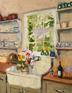 "SOLD ""Flowers From the Garden,"" by Paul Healey 14 x 18 - oil $825 unframed"