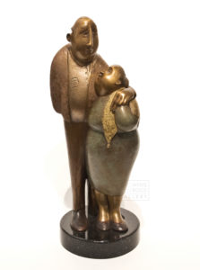 """Mes sages,"" by Hélène Labrie (My Sages) 13 1/2 x 5 1/2 x 5 $6000"