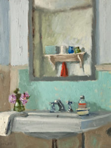 "SOLD ""Mirror Still Life,"" by Paul Healey 12 x 16 - oil $700 Unframed"