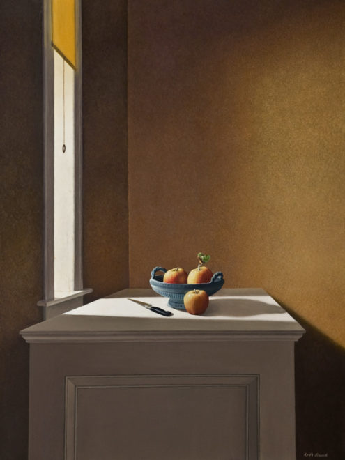 """Sideboard,"" by Keith Hiscock 30 x 40 - oil $7500 Unframed"