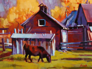 """Autumn Ranch,"" by Mike Svob 12 x 16 - acrylic $1415 Unframed"