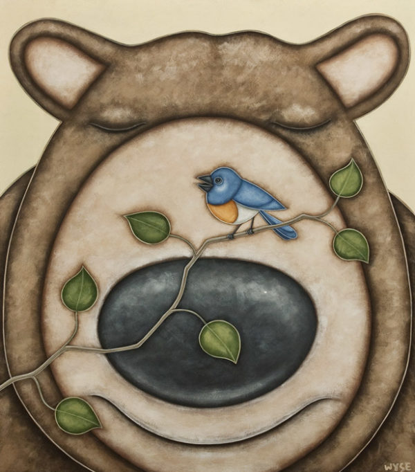 """""""The Bluebird's Song,"""" by Peter Wyse 30 x 36 - acrylic $3170 (unframed panel with 1 1/2"""" edges)"""