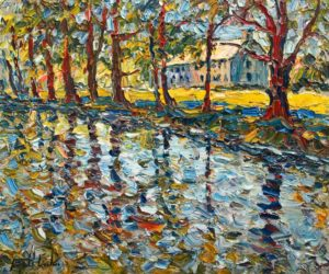 "SOLD ""Domaine Maizerets, Quebec,"" by Raynald Leclerc 20 x 24 - oil $2500 Unframed"
