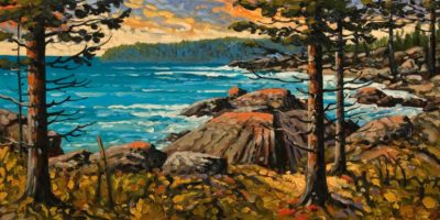 """Early Evening Light, Near Port Renfrew,"" by Rod Charlesworth 15 x 30 - oil $2215 Unframed"
