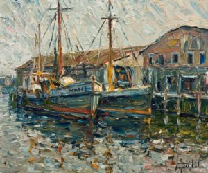 """Gloucester Harbour, Massachusetts,"" by Raynald Leclerc 20 x 24 - oil $2500 Unframed"