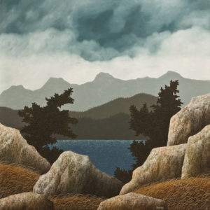 "SOLD ""Incoming Storm,"" by Ken Kirkby 36 x 36 – oil $3625 Unframed"