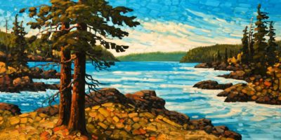 """September Waters, Haida Gwaii,"" by Rod Charlesworth 24 x 48 - oil $4390 Unframed"