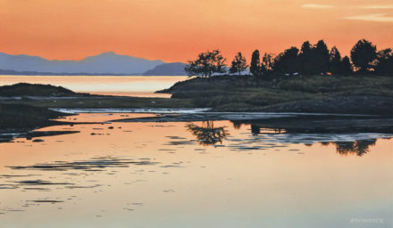 """Evening on the Estuary,"" by Ron Parker 14 x 24 - oil $2200 Unframed"