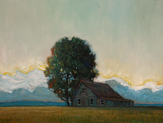 """A Soft Dusk,"" by Steve Coffey 18 x 24 - oil $1850 Unframed"