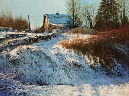 """Winter Blues,"" by Alan Wylie 30 x 40 - oil $12,750 Unframed"